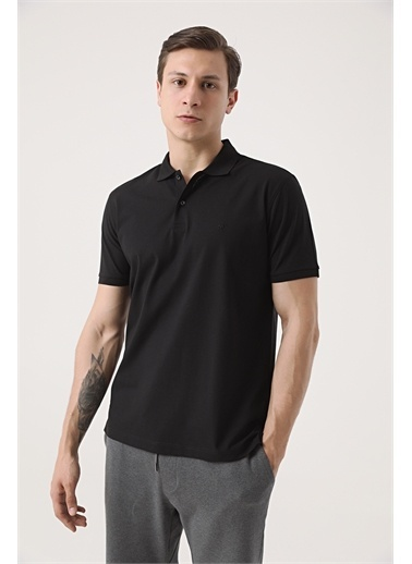 Damat Damat Lacivert 60/2 Merserize T-Shirt Siyah